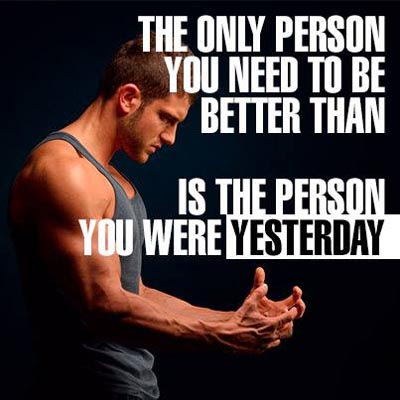 Inspirational Picture Quote The Only Person You Need To Be Better