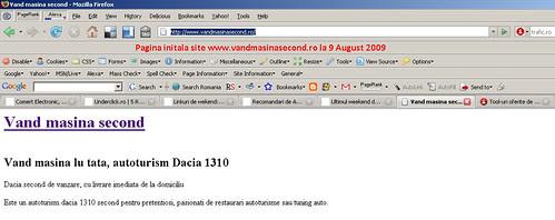 Proiect portal vanzari auto Pagina start www.vandmasinasecond.ro