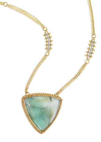 Amali Peruvian opal necklace