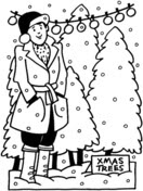 Undecorated Christmas Tree coloring page | Free Printable ...