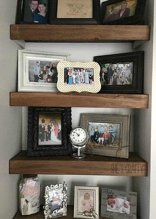 family photos, photo ledges