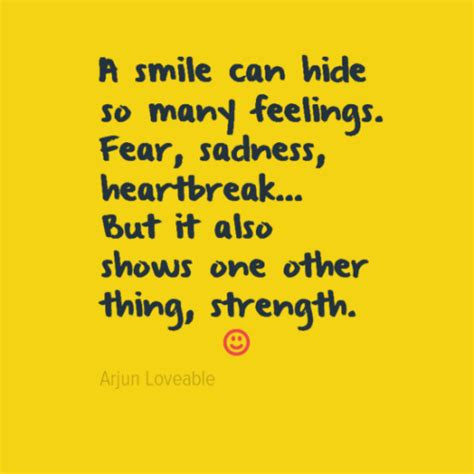 Quotes Hiding Your Feelings Smile