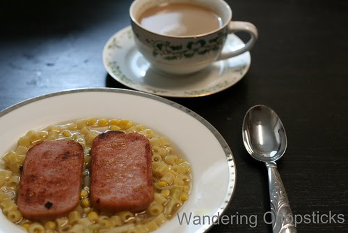 Hong Kong-Style Macaroni Soup with Spam 1