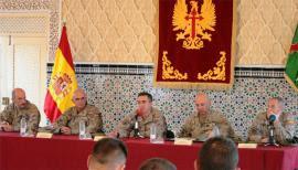 Primera visita del JEME a las unidades de Ceuta.
