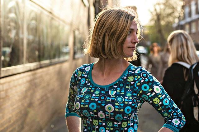 Big Girl Skater dress photobombed