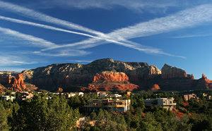 red rocks in sedona: red rocks from hotel in sedona arizona