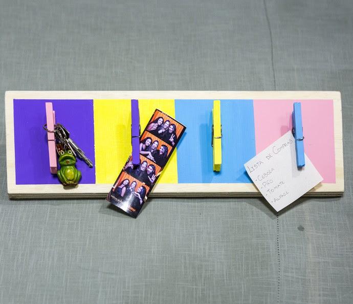 'Faça em Casa' ensina a fazer um porta-recados simples e estiloso (Foto: Ellen Soares/Gshow)