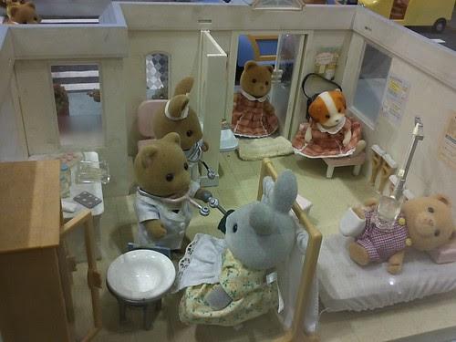Cute sylvanian exhibit in toy kingdom by popazrael