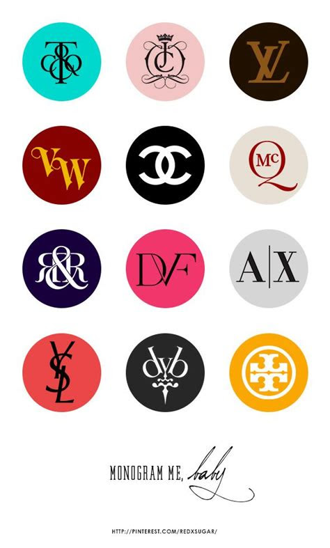 fashion brands monogram logos part  design print