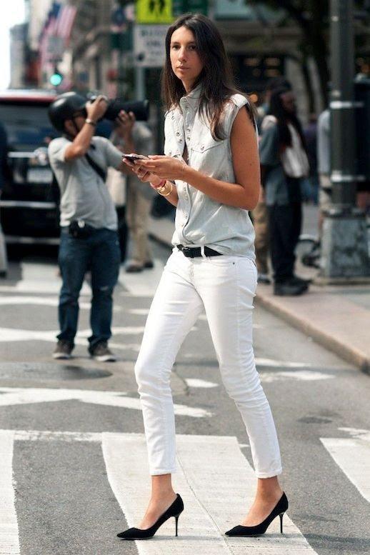 15 Le Fashion Blog 30 Fresh Ways To Wear White Jeans Geraldine Saglio Sleeveless Button Down Pumps Via Citizen Couture photo 15-Le-Fashion-Blog-30-Fresh-Ways-To-Wear-White-Jeans-Geraldine-Saglio-Sleeveless-Button-Down-Pumps-Via-Citizen-Couture.jpg