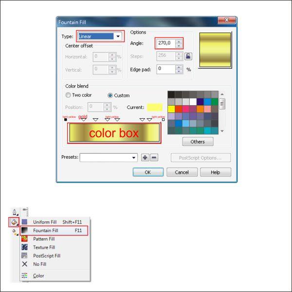 Cara Buat Warna Emas Di Corel Draw X7 Ide Perpaduan Warna
