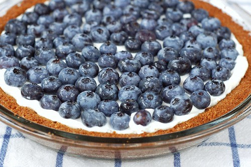 Blueberry yogurt tart with ginger graham crust by Eve Fox, Garden of Eating blog, copyright 2012