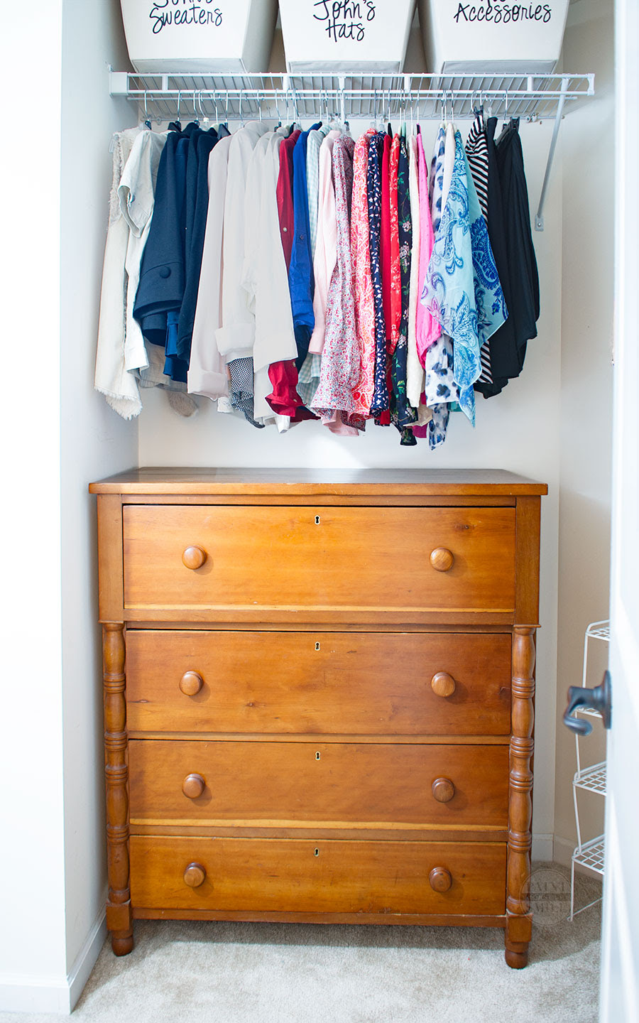 Easy Closet Space Solutions on a Budget - Paint Yourself A Smile