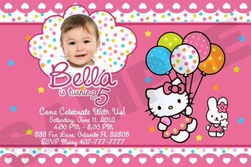 26 Sample Birthday Invitation Hello Kitty Kitty Invitation Birthday
