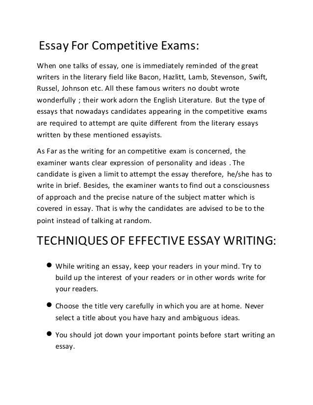 Prezi essay writing topics in english for competitive exams ons argumentative fsa