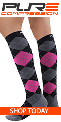 argyle-compression-socks