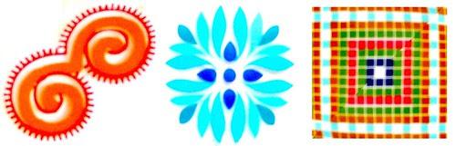18 vasos curva flor cuadrados