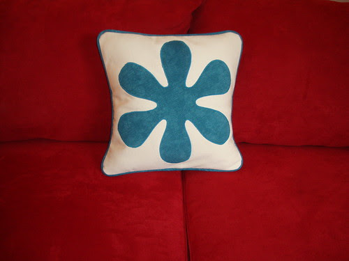 asterisk pillow on my couch