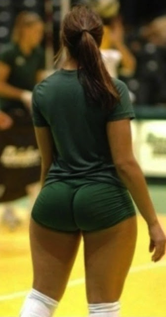female volleyball player with huge butt