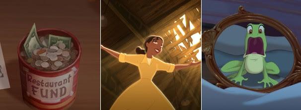 Tiana juntou dinheiro a vida toda, mas quando está prestes a realizar seu sonho, acaba virando uma rã (Foto: Divulgação / Disney Media Distribution)