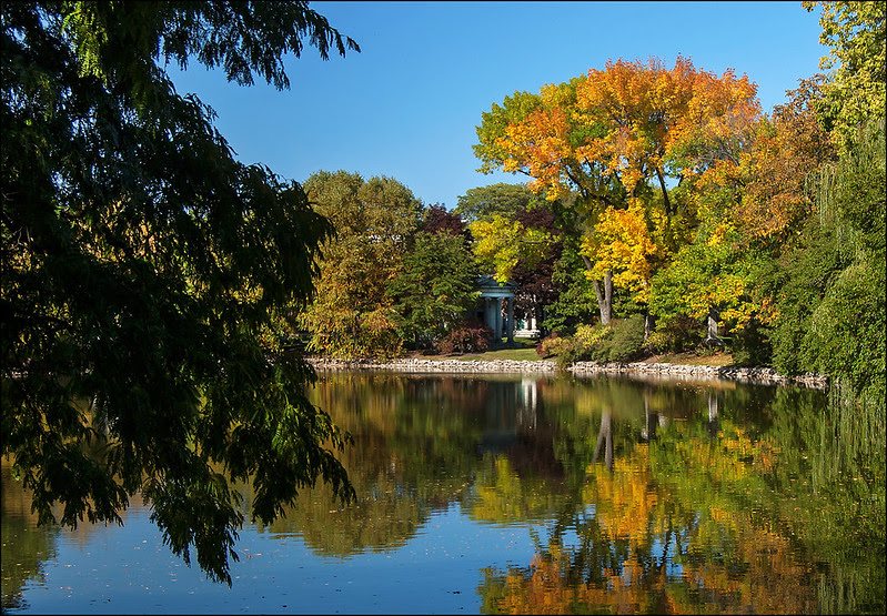 Autumn at Chicago's Graceland Cemetery