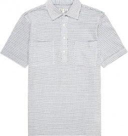 Reiss Ridich Printed Short Sleeve Polo Shirt