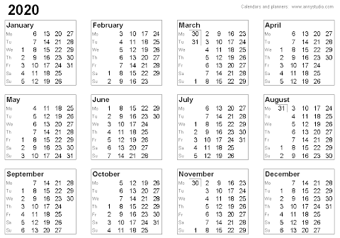 Soft File Kalender 2020