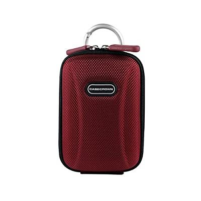 CaseCrown Protective Compact Travel Camera Case (Crimson) for Panasonic Lumix DMC-ZS7 12.1 MP Digital Camera with 12x Optical Image Stabilized Zoom and 3.0-Inch LCD