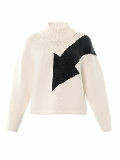 McQ Alexander McQueen Arrow intarsia-knit sweater