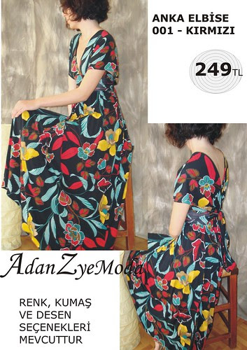 Anka Elbise 001 red-A