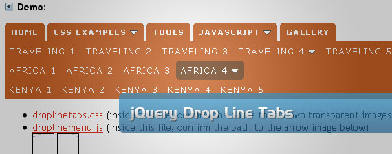 jquery-tabs-drop-down-multi-level-menu-navigation