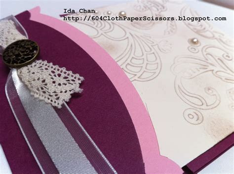 Stampin' Up! Wedding invitations 604 Cloth, Paper
