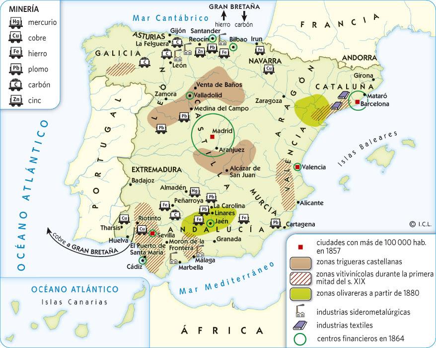Mapa Economico De España.Blog De Historia 4º Eso Comentario Del Mapa Sobre La