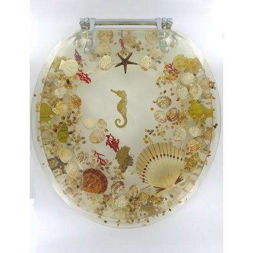 Jewel Seashell Toilet Seat Shell Home Decor