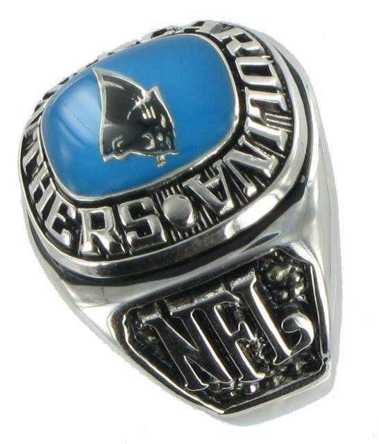 Balfour Ring Mens Football Carolina Panthers Nfl Sz 14