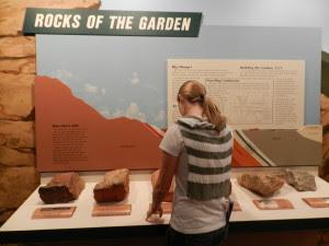 rocks of the garden exhibit