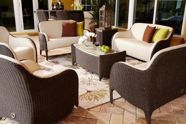 Luxor Outdoor Living Room Set - traditional - patio - miami - by