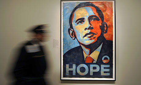 Shepard Fairey's portrait of Barack Obama