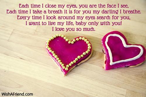 I Love You My Baby Short Love Poem
