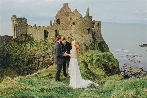 Elopement Inspiration at an Irish Castle   getting married