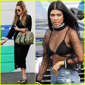 Kourtney & Khloe Kardashian Get Back to Work on 'KUWTK'