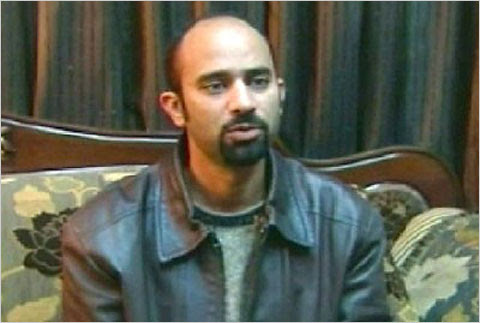"""An image of Muhammed Radwan, an Egyptian-American who was detained in Syria on Friday, on Syrian television on Saturday.<br />""""/><span class="""
