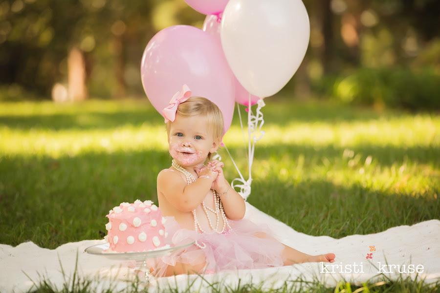 Kristi Kruse Photography Raleigh Newborn Photographer Happy 1st