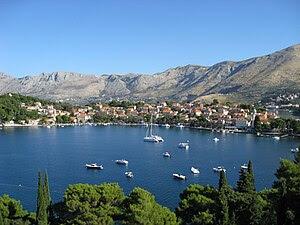 English: Cavtat, Croatia and Cavtat Harbor vie...