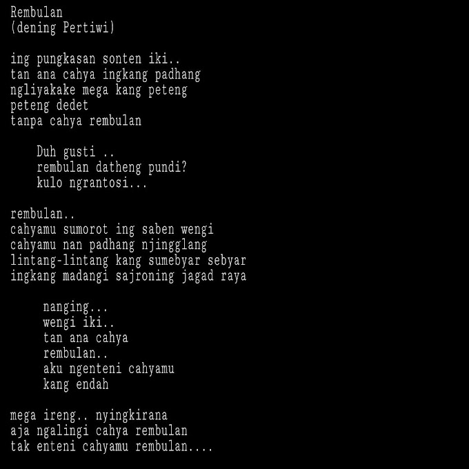 Puisi Epigram Bahasa Jawa