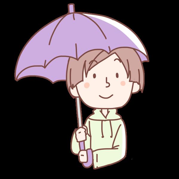 紫の傘をさす女性のイラスト かわいいフリー素材が無料のイラストレイン