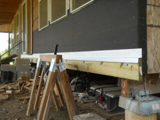 Porch Ledger Flashing