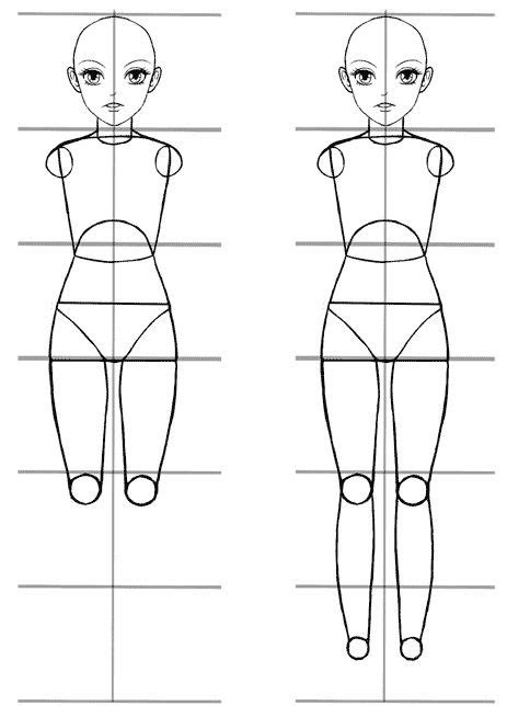 easy anime body proportions tutorial anime body