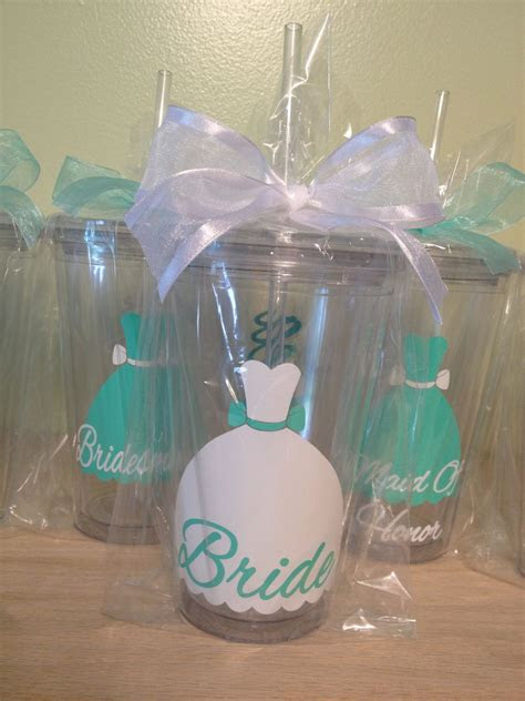 bridal party gift dress style personalized drinkware