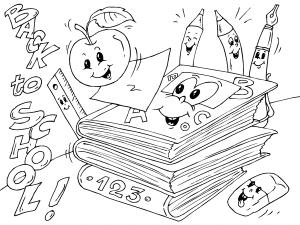 Colorear Libros Del Cole Dibujos De Colegio Para Colorear